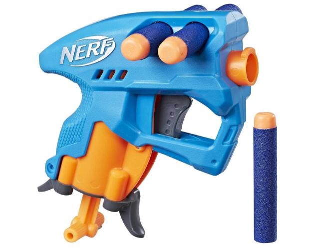 Nerf Nanofire Blue Blaster and Combats